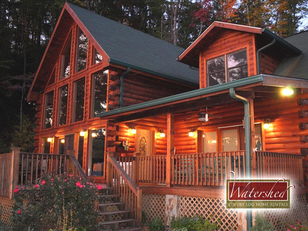 eagle's nest hideaway  watershed cabins  luxury log home, Luxury Homes/