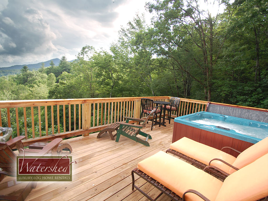 Firefly watershed cabins luxury log home vacation rentals near